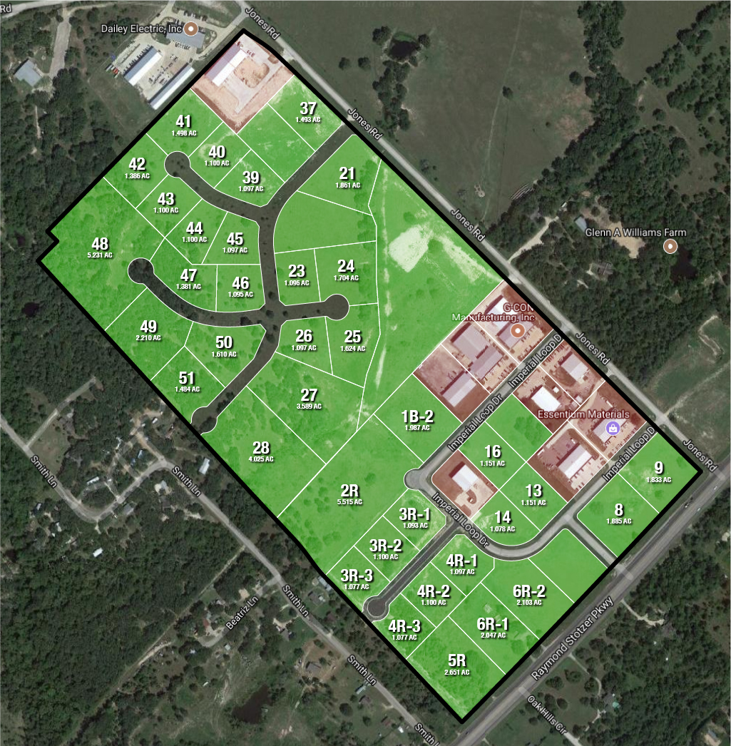 Aggieland Business Park Lot Layout